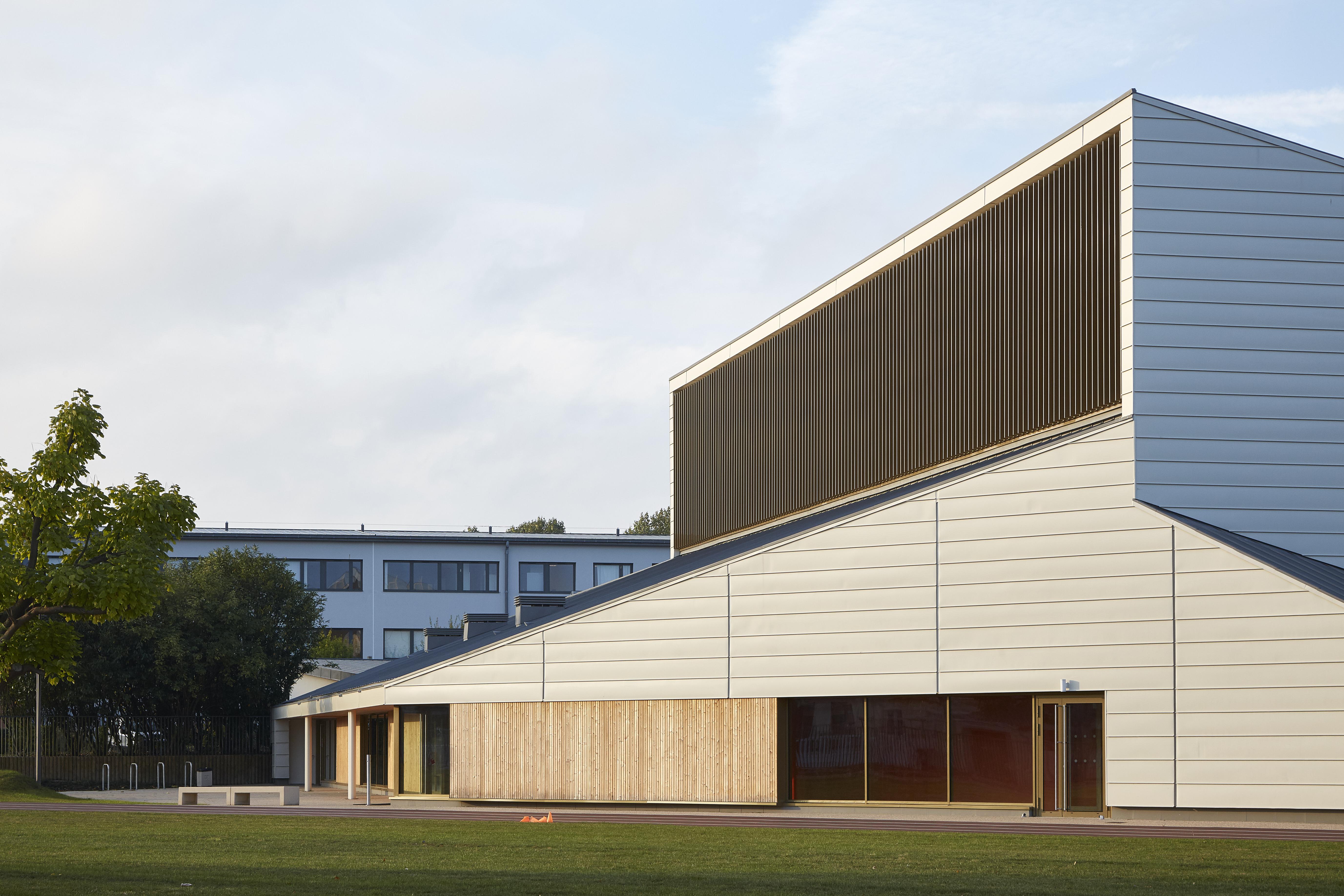 Gymnase Edouard branly Grand Quevilly zinc