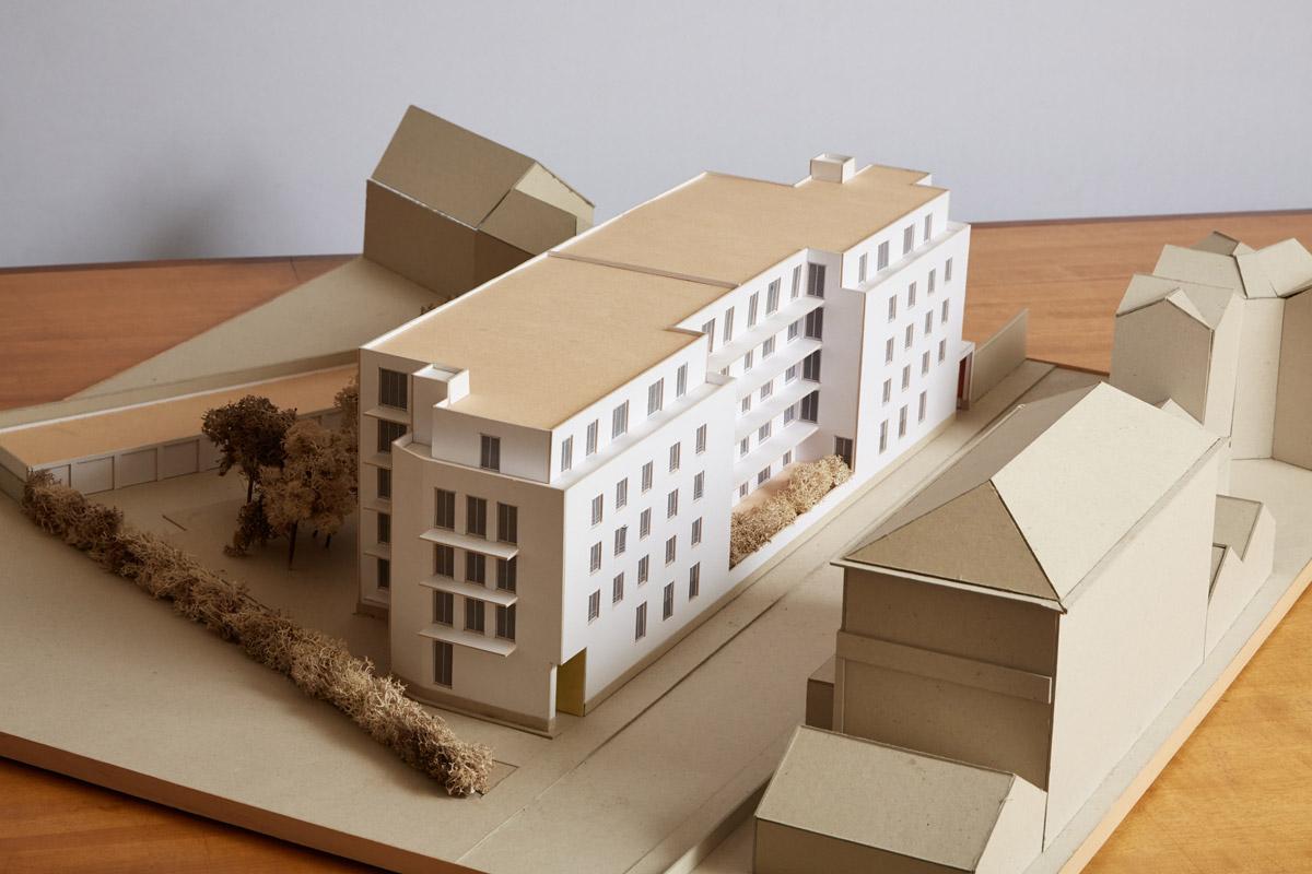 38 logements au Havre - maquette 1
