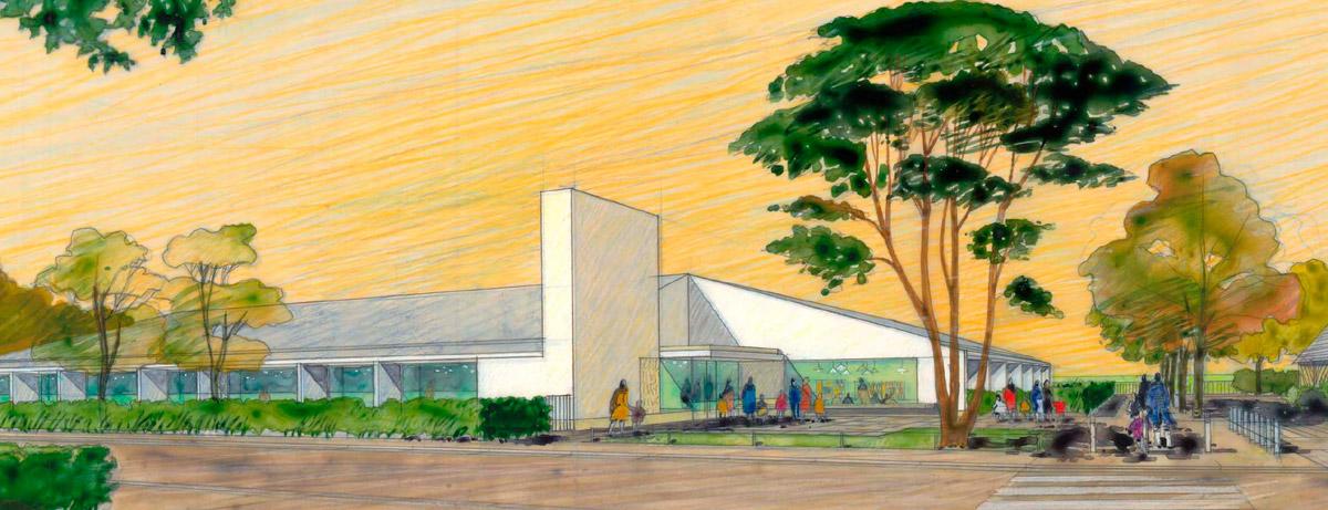 école maternelle à Beuzeville - perspective