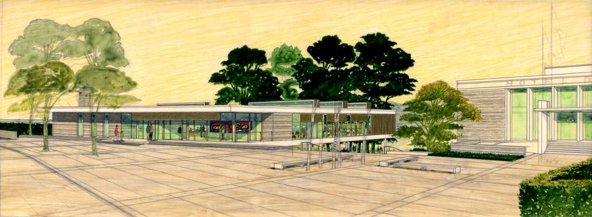 Deville-les-Rouen-Bibliotheque perspective de l'atelier feret frechon architectes