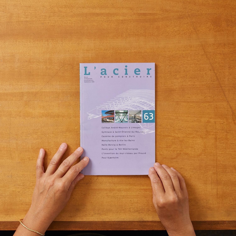 Couverture revue l'Acier decembre 2012 - gymnase du Madrillet
