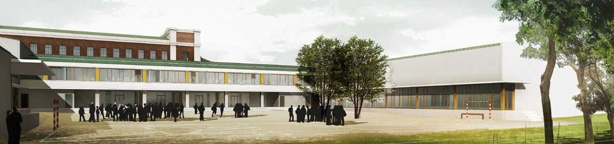 Collège Fernand Léger Petit Quevilly - cour