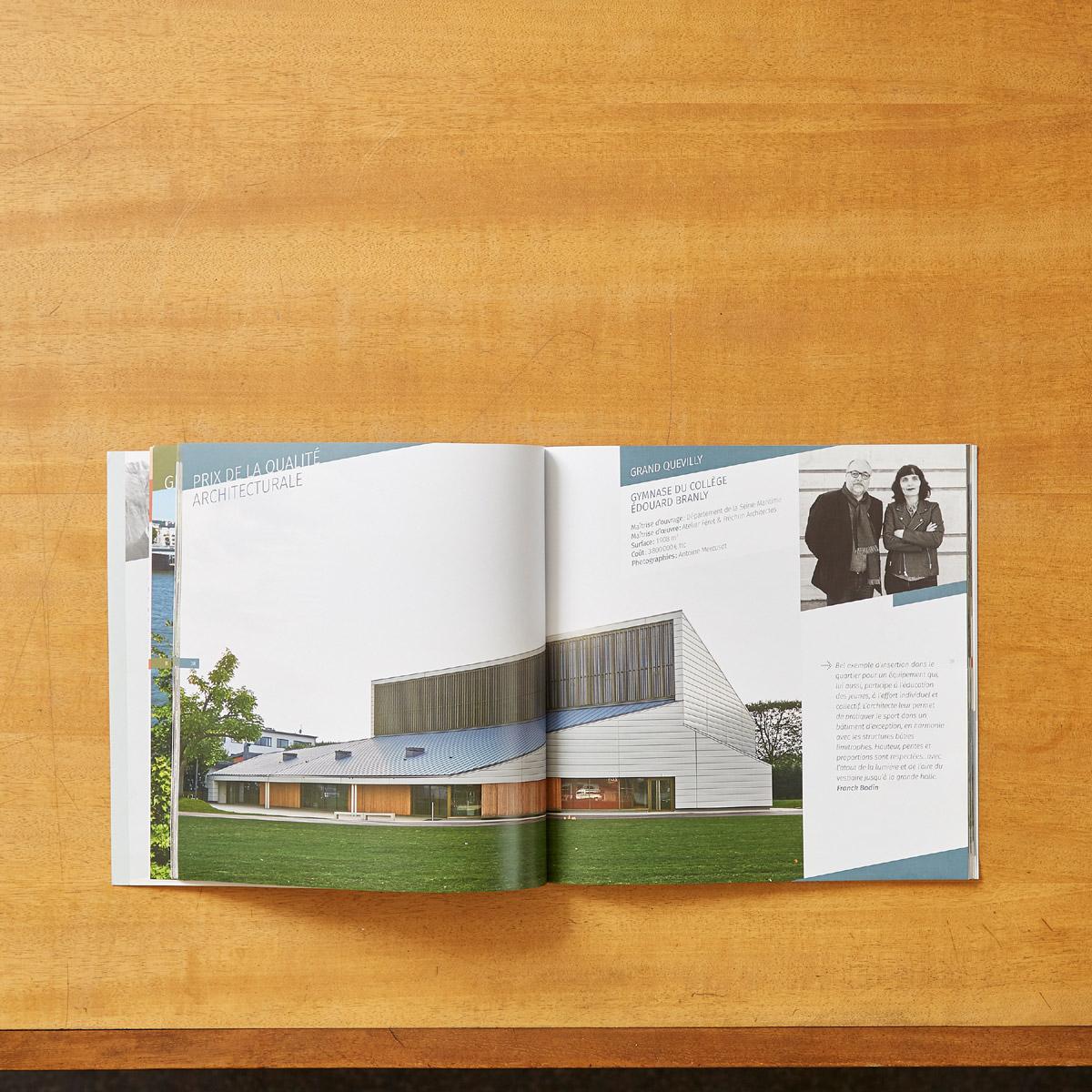 plaquette prix de l'architecture et de l'aménagement 2018 photos gymnase branly