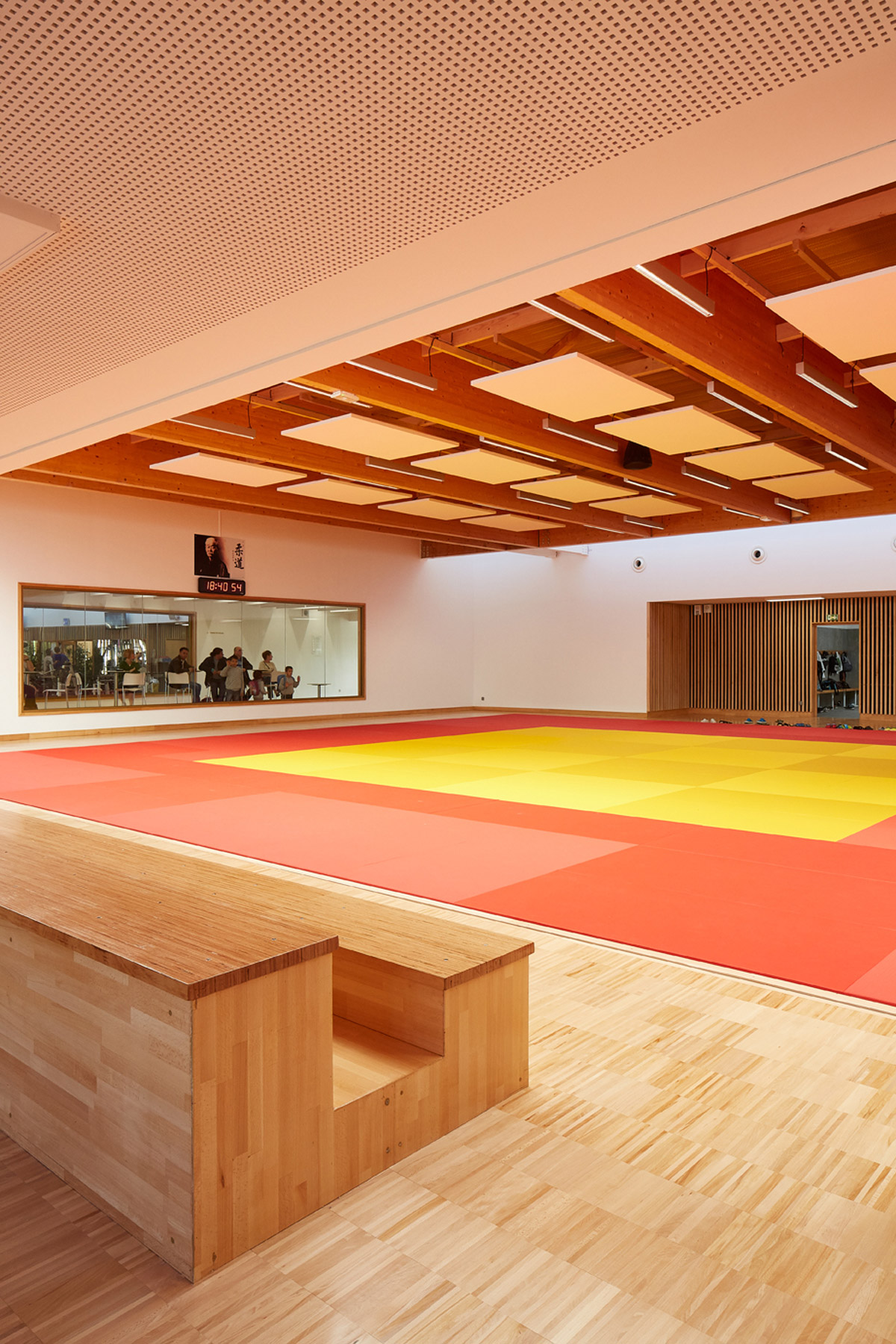 complexe sportif de la Villette à Caudebec les Elbeuf vue salle dojo